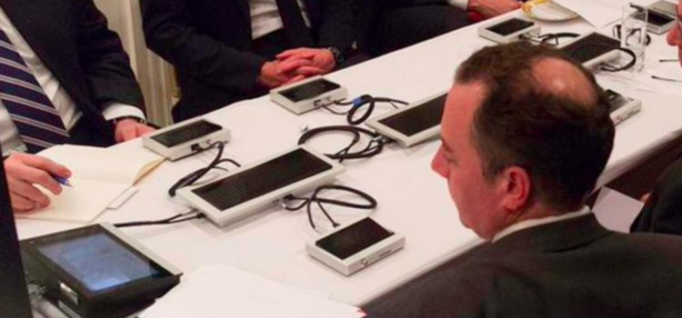 What the Heck Are These Electronic Devices in Trump's Situation Room?