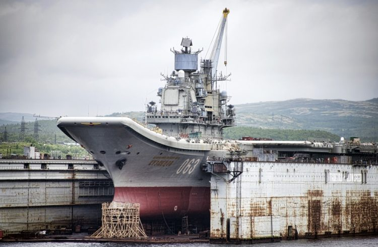 Russia's Banged-Up Aircraft Carrier Prepares for Her Upgrade