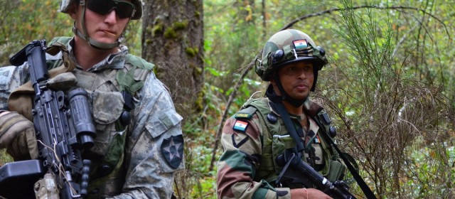 Indian and U.S. Troops Train for War