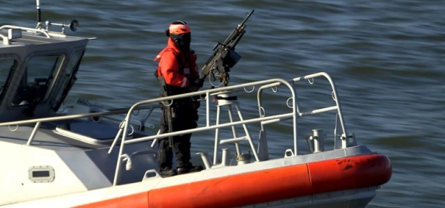 U.S. Coast Guard Keeps Watch in New York