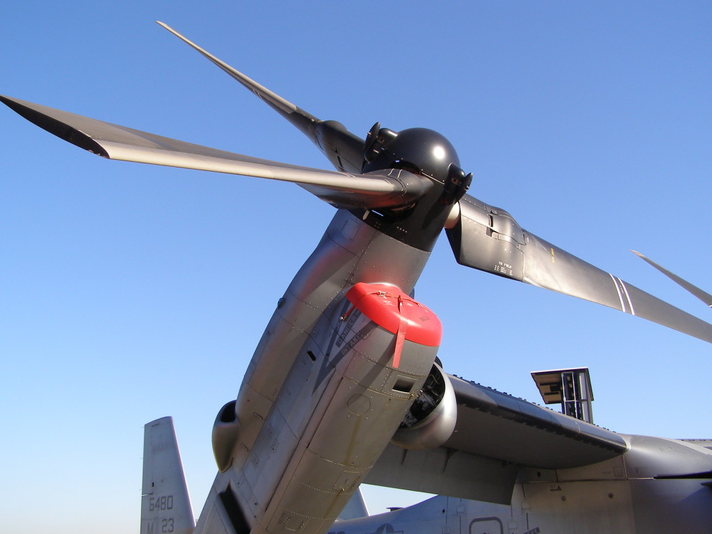 A V-22's right engine nacelle. Photo via Wikipedia