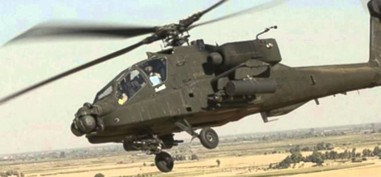 American Helicopter Gunships Attack Insurgents in Iraq