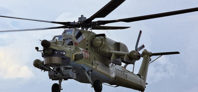 Watch — Russian Attack Helicopters Blast Islamic State