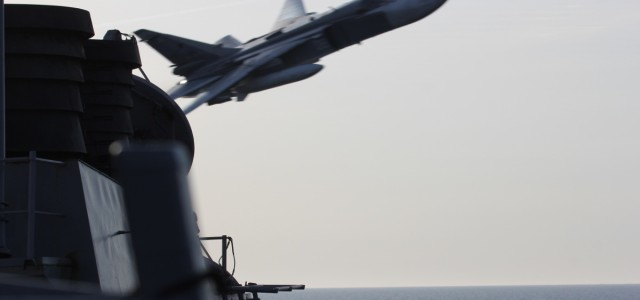 Holy Crap — Watch These Russian Aircraft Buzz an American Destroyer