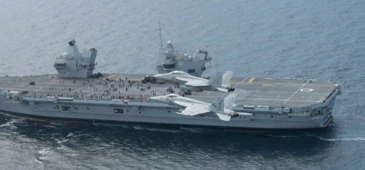 Two Supercarriers Meet at Sea — One's Missing Airplanes
