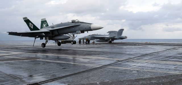 In a First, a Finnish Fighter Pilot Lands on a U.S. Aircraft Carrier