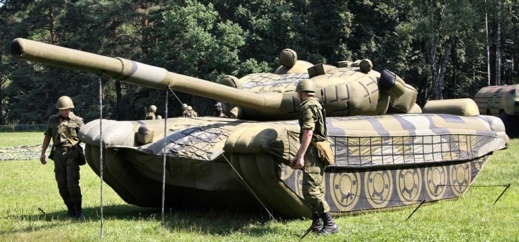 The Russian Army Is Inflating Giant Dummy Tanks