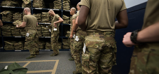 New swag: Air Force cadets get new camouflage pattern uniform