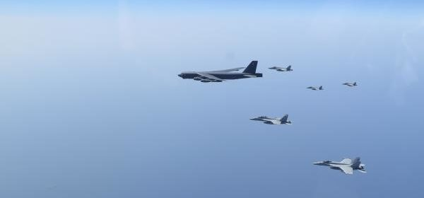 U.S. performing simulated military strikes near Iran in deliberate show of force