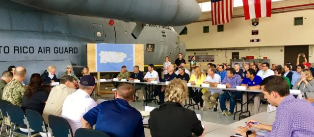 Donald Trump Flew to Storm-Ravaged Puerto Rico to Heap Praise on … the F-35