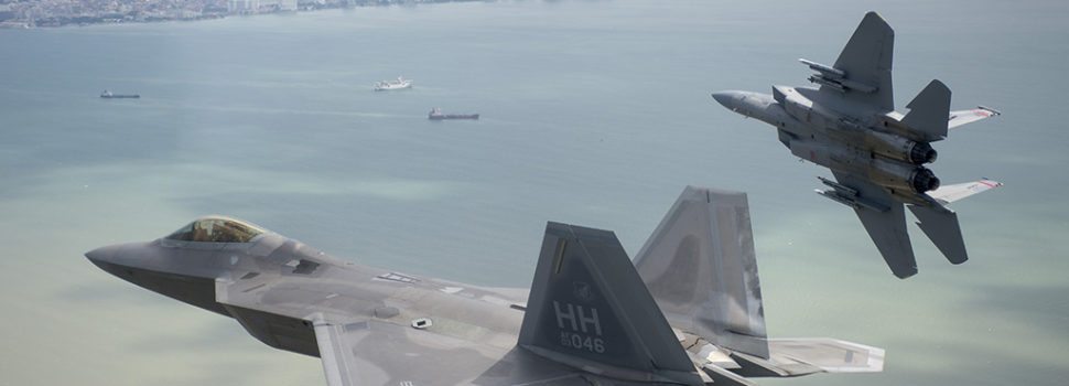 Four F-22s and four F-15s 'Killed' 41 Enemy Fighters During Mock Combat