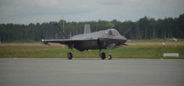 F-35s land in Latvia for first time, operate along Russia border