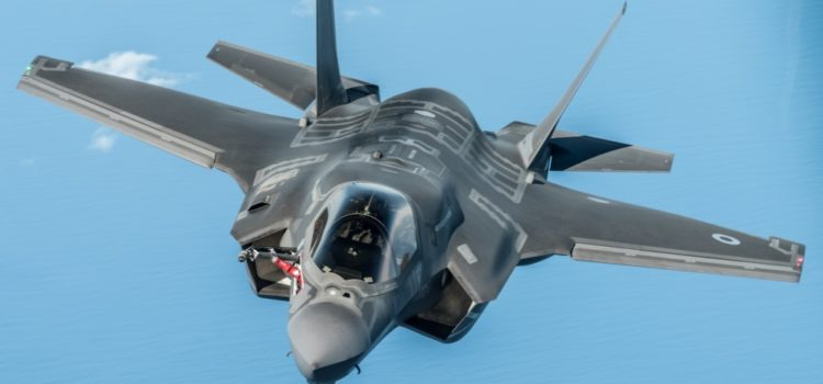 Airmen stationed in South Korea getting F-35 training through a simulator