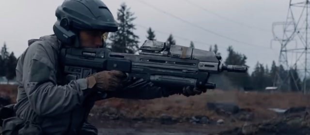 "USAF SERE instructor debuts the MA37 from ""Halo"" video game series"