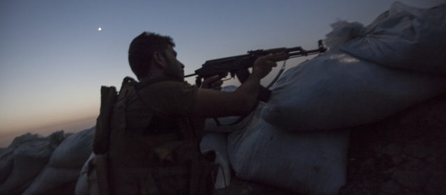 On the Kurdish Front Line, a Tense Night Fending Off Islamic State