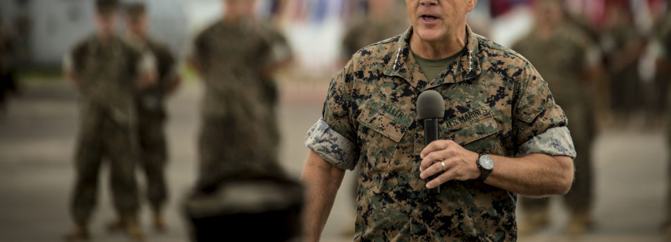 Marine Corps commandant says deploying troops to the border poses 'unacceptable risk'