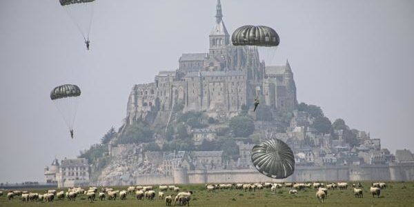 Special Forces parachute over Normandy in test run for upcoming D-Day ceremony