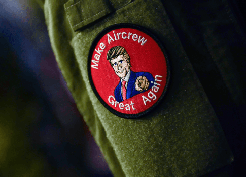 Navy looking into 'Make Aircrew Great Again' patches worn during Trump visit to Japan