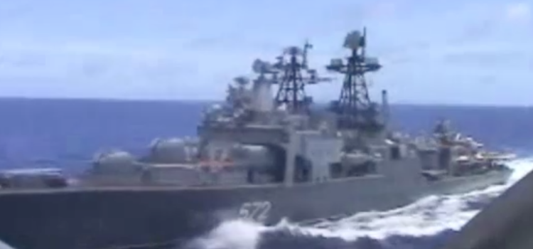 Russian destroyer nearly collides with U.S. cruiser, Navy blames Russia for near collision