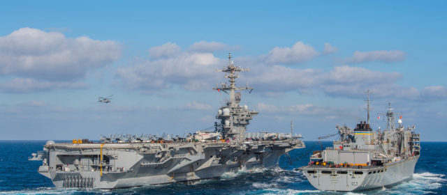 Pentagon top officials defend move sending carrier and bombers to counter Iranian threat