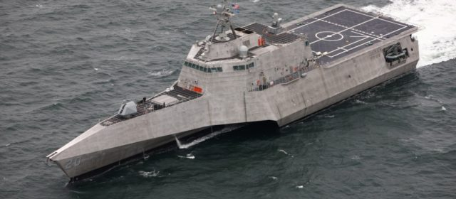 Navy launches ninth Independence class combat ship the USS Cincinnati