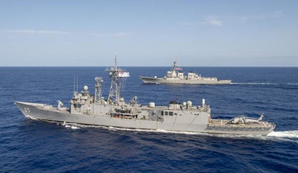 Navy has four ships patrolling South China Sea