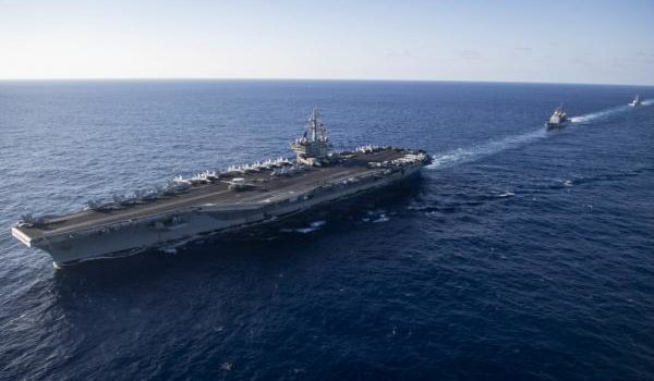 USS Ronald Reagan heads out to sea for its first deployment of 2019