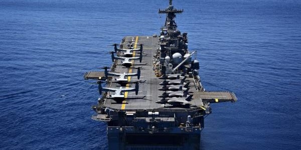 U.S. sails massive, F-35-laden warship in disputed South China Sea