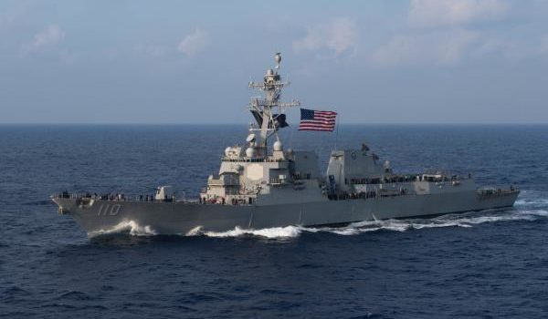 Navy sends a pair of guided-missile destroyers through Taiwan Strait