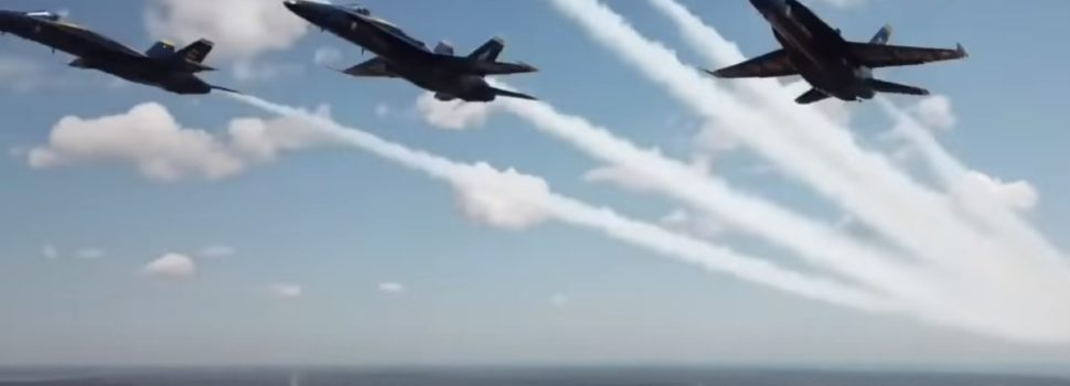 Hobbyist almost hits Navy Blue Angels with a drone during Detroit flyover