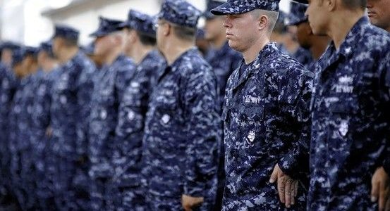 No more blue: Navy dropping 'blueberry' camo uniforms for good