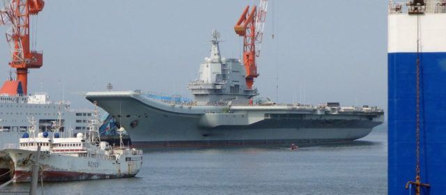 China launches it first Chinese-built aircraft carrier