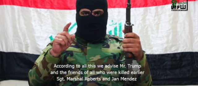 Terrorist group that claims it killed two Americans warns US troops of another attack