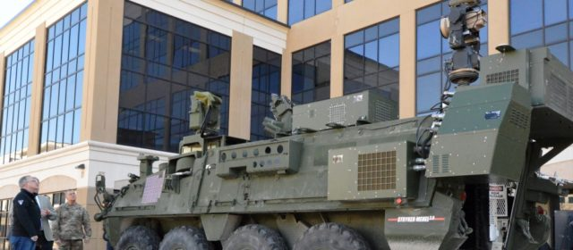Moving into the future: Army shows off drone destroying mobile laser system