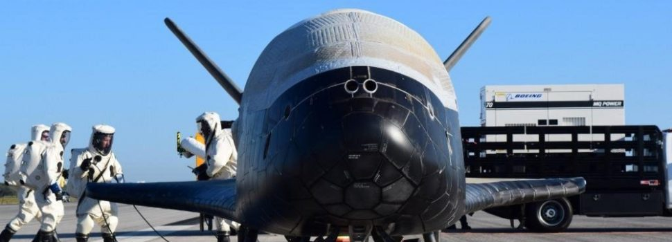 Unmanned space shuttle breaks orbiting record, continues secret mission