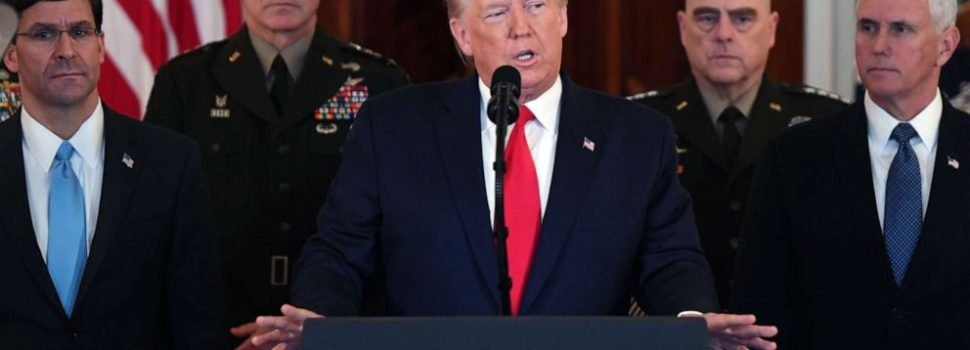 Trump warns Iran but says US 'ready to embrace peace with all who seek it'