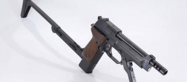 The Beretta Machine-Pistol Spits 1,000 Rounds per Minute