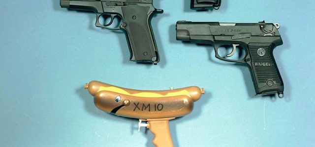 Someone slipped a water gun into Army's pistol competition photos to imply its a joke