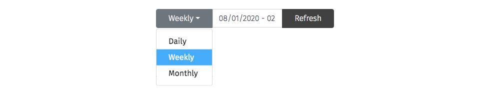 change date range Wastebits Insights
