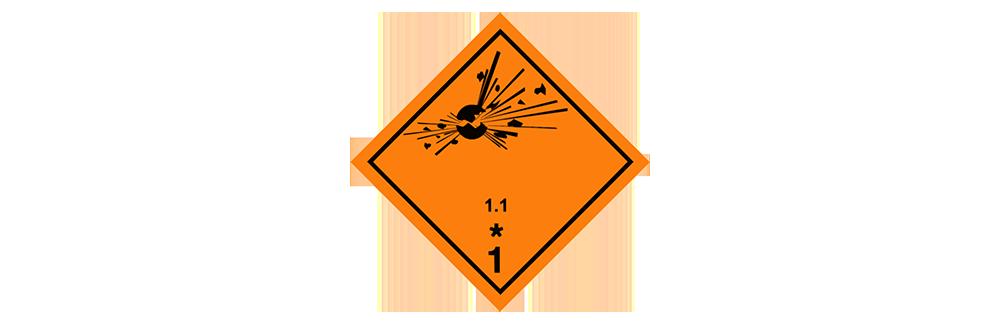 hazardous material class 1.1 mass explosion hazard