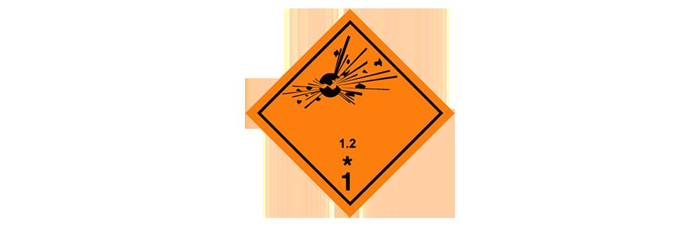 hazardous material class 1.2 blast projection hazard
