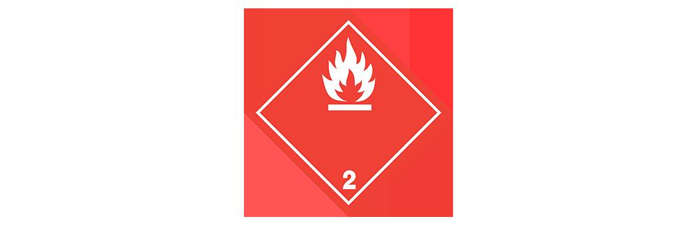 hazardous material class 2.1 flammable gases