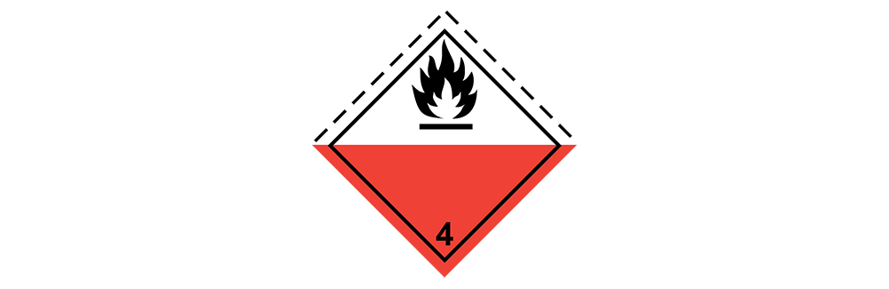 hazardous material class 4.2 Substances which spontaneously combust
