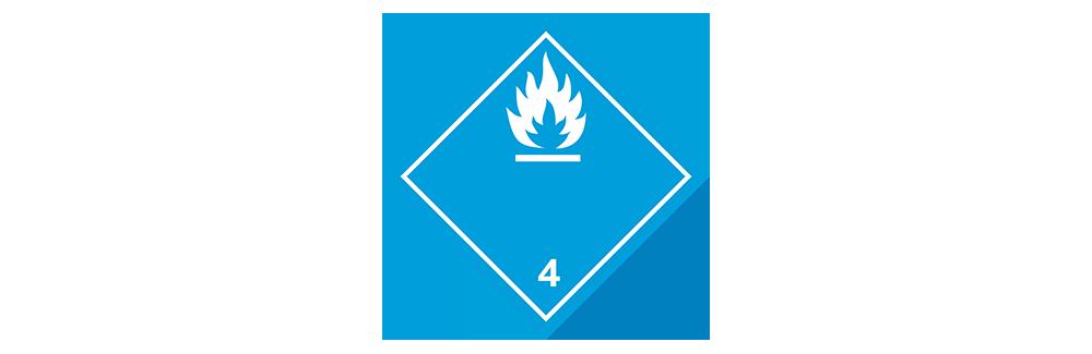 hazardous material class 4.3 dangerous when wet