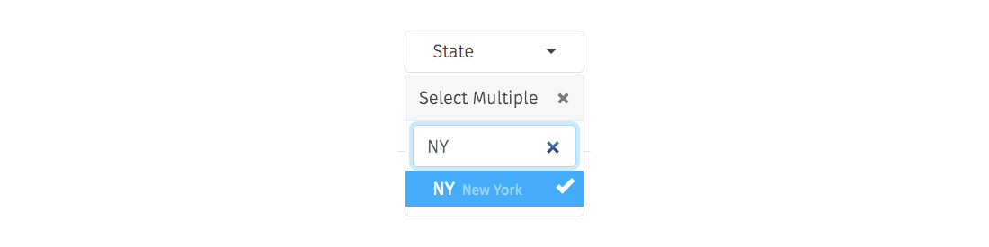 Insights state drop down