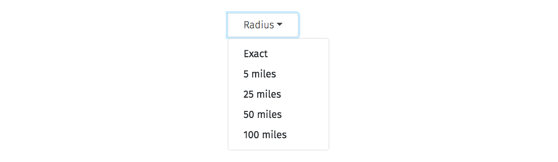 Radius Selection