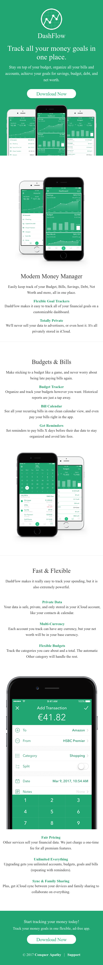 Example of Design for Finance, Investing, Mobile Landing Page by dashflow.co   Mobile Landing Page Design