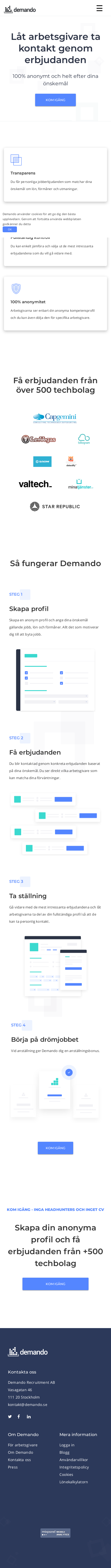 Example of Design for Uncategorized, Mobile Landing Page by demando.se | Mobile Landing Page Design