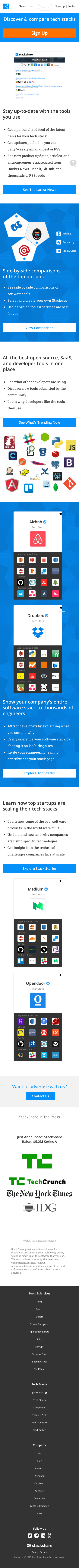 Example of Design for Computers & Electronics, Mobile Landing Page by stackshare.io | Mobile Landing Page Design