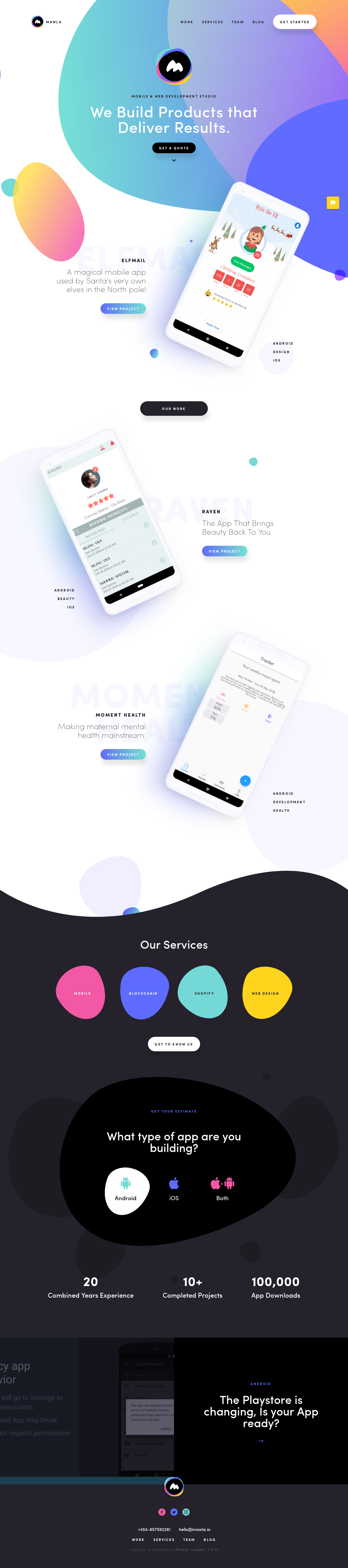 Example of Design for Internet & Telecom, Mobile & Wireless, Mobile Apps & Add-Ons, Mobile Landing Page by mawla.io | Mobile Landing Page Design